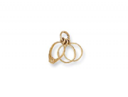 9ct Gold three rings Pendant 1.2g